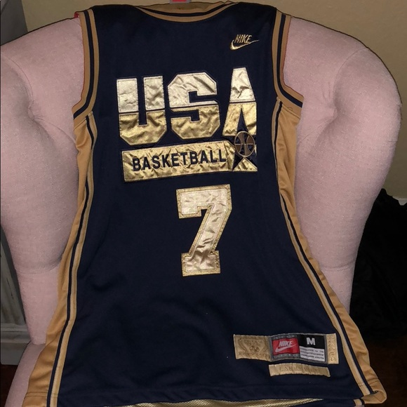 quite nice 402ed 4ec53 Nike LARRY BIRD Dream Team USA Basketball Jersey